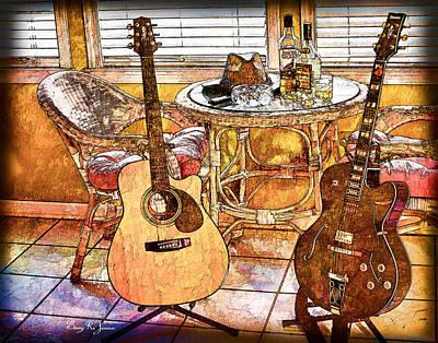 Session Musician Photograph - A Little Bit Country-a Little Bit Blues by Barry Jones