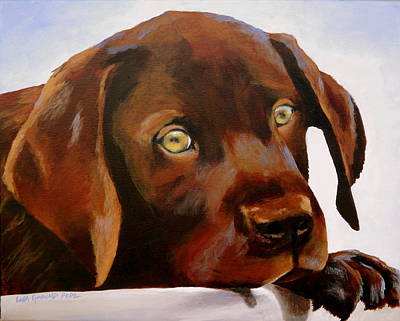 Chocolate Labrador Retriever Painting - A Little Chocolate by Lisa Pope