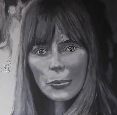 Joni Mitchell Painting - A Lonely Painter by Gordon Irving