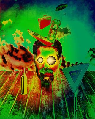 Jerry Garcia Band Digital Art - A Long Strange Trip by Anthony Caruso