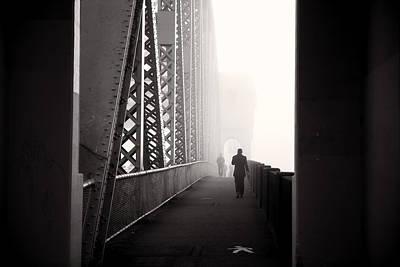 Doppelganger Photograph - A Long Walk Home by Alex Land