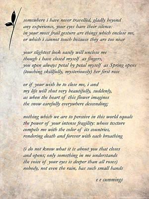 A Love Poem Print by Steve Harrington