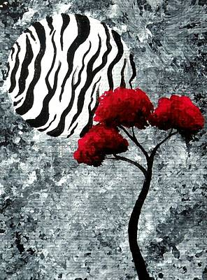 Zebra Painting - A Love Story No 23 by Oddball Art Co by Lizzy Love
