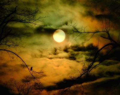 Lunar Digital Art - A Lunar Night by Gothicrow Images