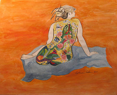 A Magic Carpet Nude Original by Esther Newman-Cohen