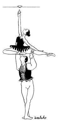 4th July Drawing - A Male Ballet Dancer Lifts A Ballerina by Liam Walsh