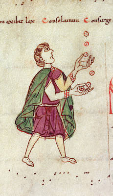 A Man Juggling Print by British Library