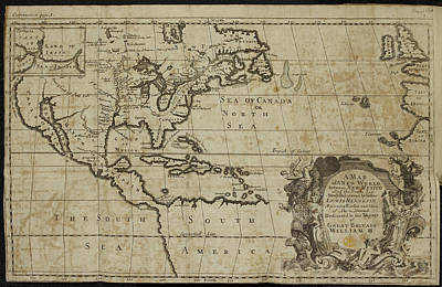 New World Photograph - A Map Of A New World by British Library