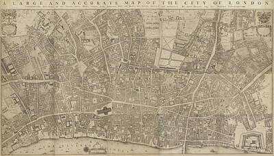 Cartography Photograph - A Map Of The City Of London by British Library