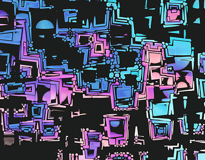 Maze Digital Art - A Maze Zing - 03c01 by Variance Collections