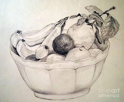 Grapefruit Drawing - A Medley Of Fruit by Nancy Kane Chapman
