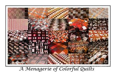 Homemade Quilts Tapestry - Textile - A Menagerie Of Colorful Quilts -  Autumn Colors - Quilter by Barbara Griffin