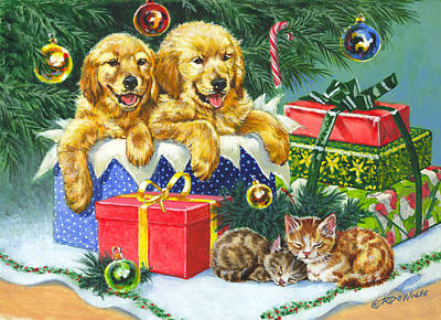 Morning Painting - A Menagerie Under The Tree by Richard De Wolfe
