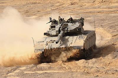 The Main Photograph - A Merkava IIi Main Battle Tank by Ofer Zidon