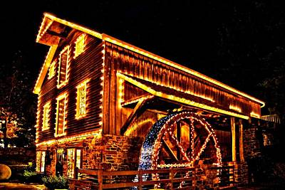 A Mill In Lights Print by DJ Florek