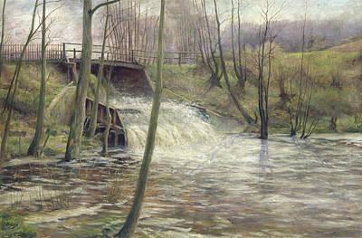 A Mill Stream Print by Karl Oderich