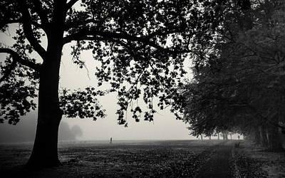 A Misty Monochrome Morning Print by Chris Fletcher