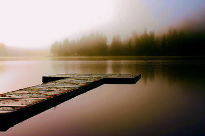 Fog Photograph - A Misty Morning On The Lake by Peggy Collins