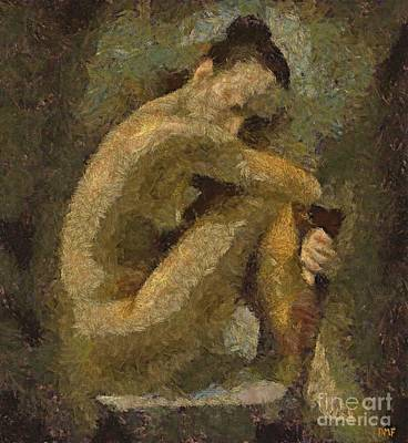 Nude Painting - A Model by Dragica  Micki Fortuna