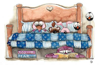 A Monster Under My Bed Print by Lucia Stewart