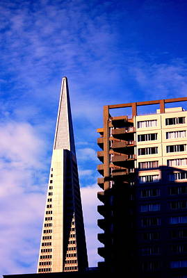 A Morning Profile Of Sf Print by Nick Busselman