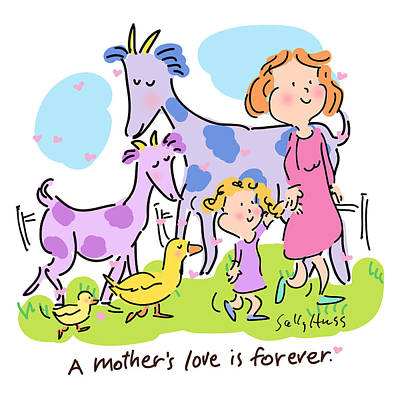 A Mother's Love Print by Sally Huss