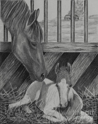 Sweet Touch Drawing - A Mother's Touch by Terri Mills
