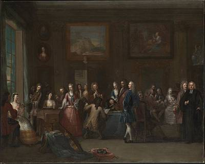 Marcelli Painting - A Musical Assembly by Marcellus Laroon the Younger