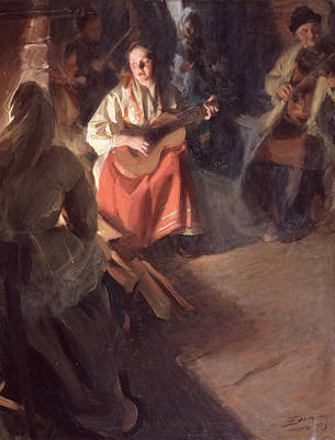 Zorn Painting - A Musical Family by Anders Zorn