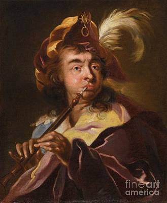 Iconic Painting - A Musician by Celestial Images