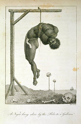 A Negro Hung Alive Print by British Library