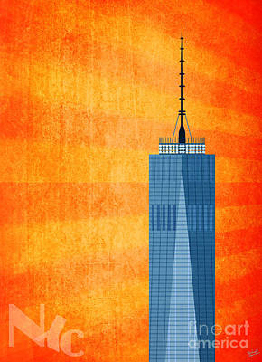 Sun Rays Digital Art - A New Day - World Trade Center One by Nishanth Gopinathan