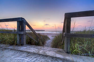 Sunset At The Bridge Photograph - A New Day by Debra and Dave Vanderlaan
