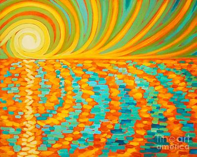 A New Day Is Dawning Print by Janet McDonald