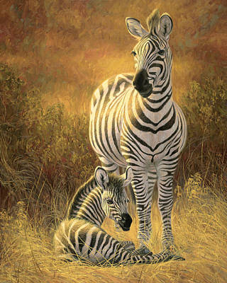 Zebra Painting - A New Day by Lucie Bilodeau