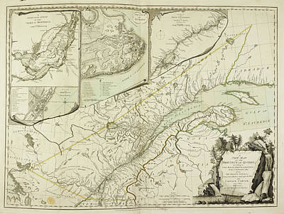 Etc Photograph - A New Map Of The Province Of Quebec by British Library