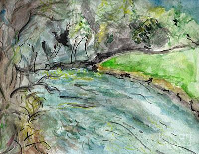 Spring River Morning Print by Elizabeth Briggs