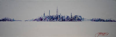 New York City Skyline Painting - A New Year In Manhattan by Jack Diamond