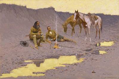 Pinto Digital Art - A New Year On The Cimarron by Fredrick Remington