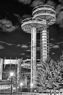 Space Ships Photograph - A Night In Queens Bw by JC Findley