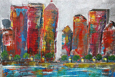 Night Life Painting - A Night In The City by Melisa Meyers