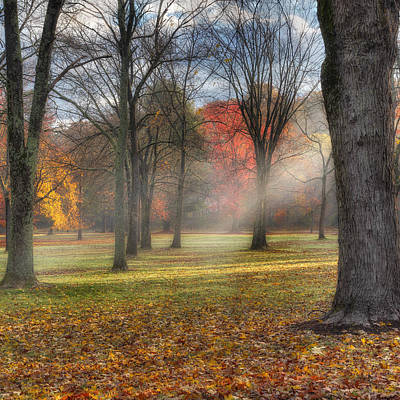 A November Morning Square Print by Bill Wakeley