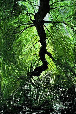 Dali Like Photograph - A Painting The Tree Branch by Mike Nellums