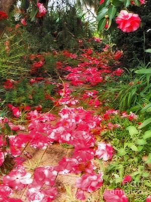 Walkway Digital Art - A Path Of Petals By Kaye Menner by Kaye Menner
