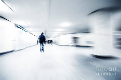Fast Photograph - A Person Lost In The Rush by Michal Bednarek