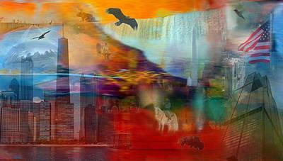 Bison Digital Art - A Piece Of America by Randi Grace Nilsberg