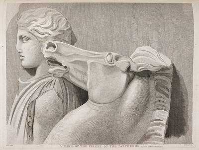A Piece Of The Frieze Of The Parthenon Print by British Library