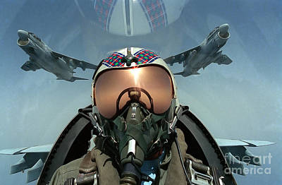 Self Portrait Photograph - A Pilot Takes A Self Portrait by Stocktrek Images
