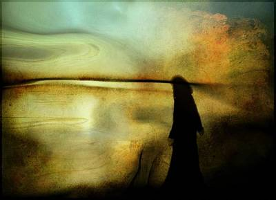 Silhoette Digital Art - A Place For Thoughts by Gun Legler