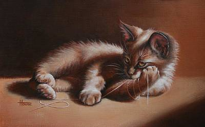 Feline Painting - A Place In The Sun by Cynthia House